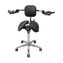 Salli Ergorest with Stretching Support - опора для двух рук со спинкой для выполнения работ, требующих высокой точности